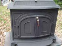 Good condition Vermont Castings wood stove. Just been
