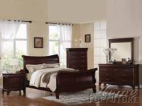 Verona Dark Cherry Finish Queen Bedroom Set Item #: