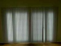 "I have two blinds, 84""tall 65""wide.white in color. will"