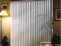 "Vertical Blinds 72"" wide x 84"" long, bought them at"