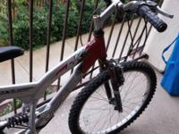 24 inch mens bike, 21 speed, has aluminum suspension,