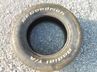 Great condion 235/60/15 BfGoodrich T/A Radial tire.