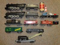 We have a large amount of American flyer trains from