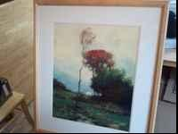 30in wide by 34in long oil painting. Very thick glass,