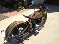 1932 Harley Davidson VL in very nice, riding condition.
