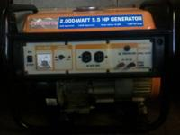 This Generator has a on / off switch / volt meter /