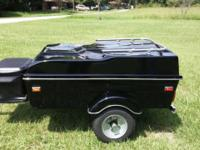 Very Nice Black Motorcycle Trailer! Built on cooler