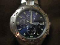 UP FOR SALE IS MY BLUE FACED CITIZEN CHRONOGRAPH WATCH.