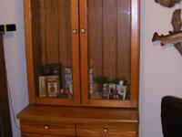 This Curio cabinet is very heavy and sturdy. Light