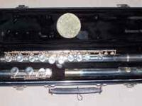 Very Nice E.L. DeFord ELKHART Flute with case. Works