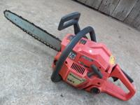"Excellent - 16"" Gas, Chainsaw, Husqvarna 141 - Starts &"