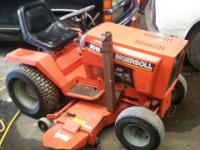 Tractor is Industrial rated 18hp twin side shaft B&S,