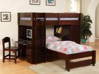 Brand New- Very great Cherry Wood Loft Bunk beds with
