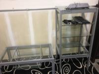 nice coffee table with 1 glass shelf under lower part,