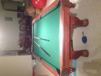 We are moving and need to sell the pool table. We
