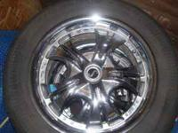 THIS IS A VERY NICE SET OF 17'' CHROME WHEELS RIMS AND