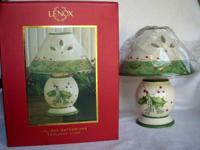 LENOX China two-piece Holiday Gatherings Tealight Lamp