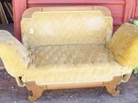 THIS IS A VERY OLD DAY BED - LOUNGE.< ONLY 500.00 , ASK