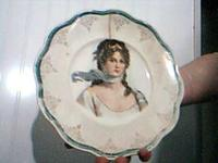 "About 12"" round, The painting on this plate is very"