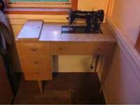 Singer Sewing Machine. OLD built into a desk. Must go!!