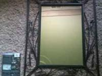 Very nice mirror, looks great on the wall. Moving and