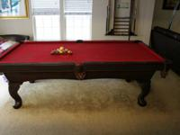 We are offering a Olhausen 8ft pool table. It features