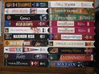 Box full of popular movies on VHS videos: $2 each  The