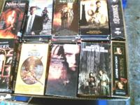Over 200 VHS with all popular movie titles between 15