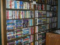 vhs movies, 4 / $1.00  about 1000, / disney vhs movies,