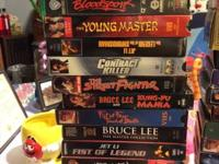 40 VHS movies Kung Fu Bruce lee Jet lee and other