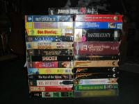I have a few VHS Movies for sale. $1ea -0r- all for $20
