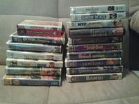 I have 17 VHS MOVIES all $2 each or all for $25. Also