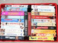 22 VHS movies for $10.00 Call Dwayne