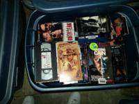 I HAVE ABOUT 30 TO 40 MOVIES ON VHS INCLUDING INDIANA