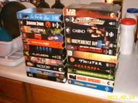 For Sale is a box of VHS/Movies(22)titles....Most have