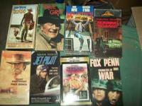 For Sale VHS movies apprx 200 from John Wayne to