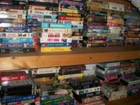 Hundreds of VHS Movies Tapes, CD's and DVD's as low as