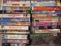 VHS Player and 22 kids movies, including Shrek,
