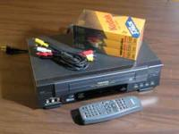 This is a great little Toshiba VHS video recorder,