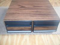 VHS Tape Holder with 2 drawers Excellent Condition