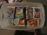 103 assorted VHS tapes.  Almost all of them are disney