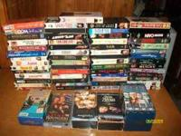 about 60 vhs a lot of good movies for kids room , den ,