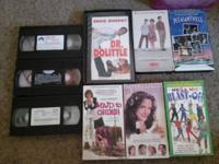 10 vhs tapes $2, dvds $3 each obo on all and 10 kids