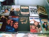 Box of VHS Tapes NSYNC, Britney Spears, Godzilla,