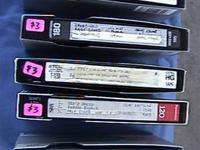 5 long tape-recorded mode VHS tapes that each have 3