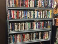 100's of VHS tapes! Regular VHS .75/each or 10/$5!