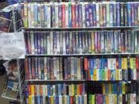 VHS TAPES .50 per tape. Large selection, includes