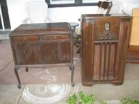 Victor Victrola (VV-215 23444) and 1936 Philco Radio