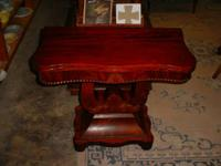 """Victorian Flip Leading Game Table """"Empire Design"""" Great"""