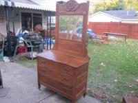This is a beautiful Victorian full dresser with mirror.